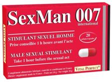 SexMan 007 20 gélules - Aphrodisiaque Puissant Hommes Stimulant Sexuel