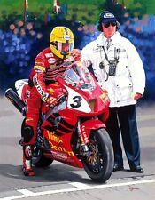 Honda vtr sp1 Joey Dunlop isle of man tt Moto Racing Moto Art Imprimé