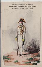 #Q. CENNI: UNIFORMI GUARDIE D'ONORE- EDIZ. FRANCESE- MILAN 1805 n.2