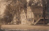 Postcard RPPC Main Street Farmington Falls ME
