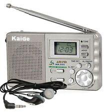 AM FM RADIO PORTABLE MINI TRAVEL POCKET DIGITAL DISPLAY ALARM CLOCK FUNCTION