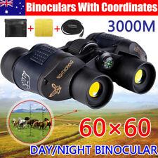 60X60 Marine HD Night Vision Binoculars Wide Field 8.2 Hunt Telescope Coordinate