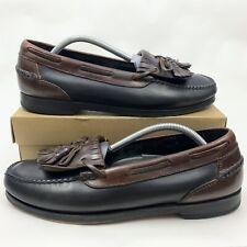 Johnston Murphy Passport Mens Loafers Brown Leather Tassel Kiltie Shoes Sz 11 M