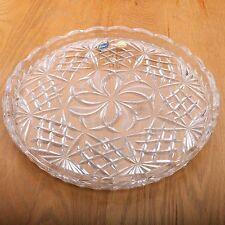 Czech Bohemia Crystal Glass Hand Cut Plate 24%