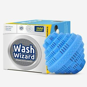 Wash Wizard Laundry Ball, Reusable Detergent Alternative Lasts 1500 Loads