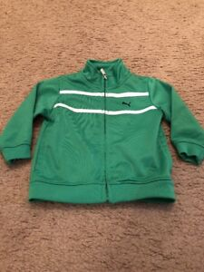Green Puma Jacket Size 12M