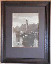 Whitby Harbour, New Quay, Steam Trawler. Photograph by Albert Mellor circa 1920