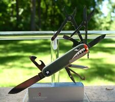 MULTI-TOOL! VICTORINOX SWISS ARMY KNIFE DELUXE TINKER WARHAWK WWII CURTISS P40