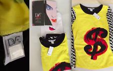 DIANE VON FURSTENBERG x ANDY WARHOL DOLLAR SIGN Jersey Shirt LIMITED ED LACMA