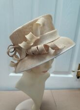 vintage WEDDINGS/SPECIAL OCCASIONS SAND  nude hat Mother of Bride Ascot Races