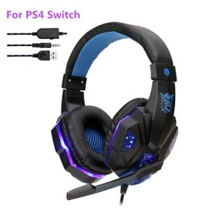 Professional Bass Gamer Wired Headphones Headset Gaming Dynamic Sound Pc Stereo