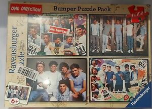 RAVENSBURGER BUMPER PUZZLE PACK 4 ONE DIRECTION 100 PIECE PUZZLES NEW SEALED