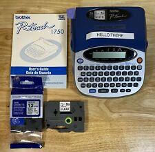 Brother P Touch Pt 1750 Label Printer Includes Manual Extra Label Tape Works