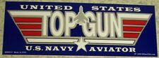 Bumper Window Sticker Navy Aviator Top Gun Self Stick Vinyl 3¼x9 NEW Made in USA