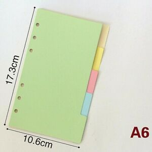 5pcs A5/A6/A7 Size Index Multi-Coloured Tabs Divider Insert Refill Organiser New