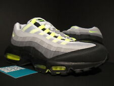 2010 NIKE AIR MAX 95 COOL GREY NEON YELLOW WHITE BLACK ATMOS 90 609048-072 10.5