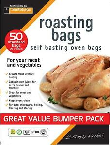 50 Large Roasting Bags Microwave Oven Cooking Poultry Chicken Lamb Meat Beef