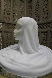 One Piece Amira Hijab - LARGE/LONG Adult size - Cotton/Polyester Blend