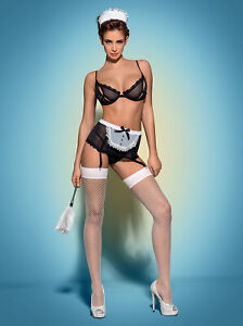 Obsessive. DessousHausmädchen Kostüm Maidme Set, sexy Maid Kostüm . Größe L/XL