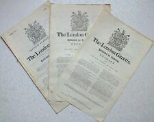 More details for 3x london gazette supplements & extracts august 1915 regarding awards & honours