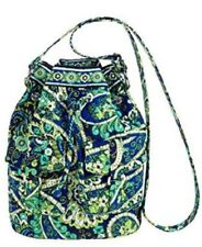 Vera Bradley Quick Draw Rhythm Blues Cross Body Purse Blue Green Bag New