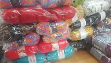 JOB LOT WOOL new ASSORTED COLOURS hand knitting wool YARN MEGGA DEAL500 BALL 002