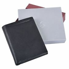 Samsonite Mens Black Cowhide Leather Wallet With 12 Card Slots Fashion Accessory