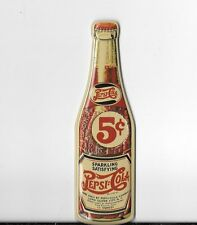 """4.5"""" Pepsi Cola Classic 5 cent Bottle, Magnet or Magnetic Sign"""