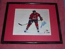 Mario Lemieux Autograph *  2002 Olympic 3rd Jersey Photo * Signed / Framed & COA