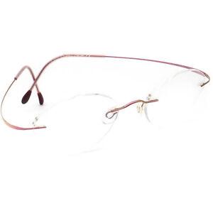 Silhouette Women's Eyeglasses M 6439 Titan Pink Rimless Frame Austria 48[]19 130