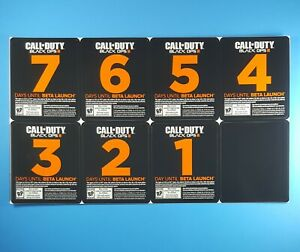 Call of Duty Black Ops III Countdown Beta Launch Sticker Sheet Activision 2015