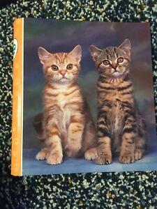 Vintage Mead Portfolio Cats Kittens Binder Purrs & Grrrs