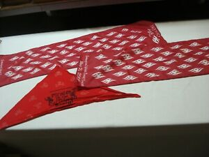 LOT OF 2 DISNEY INAUGURAL WEST COAST CRUISE SCARF WITH PIRATES RED PARTY BANDANA