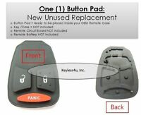Replacement button pad only keyless entry keyfob transmitter beeper KOBDT04A fob