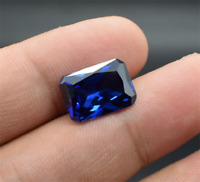 New RICH BLUE TANZANITE UNHEATED 9.38CT AAAA+ 10X12MM EMERALD CUT LOOSE GEMSTONE