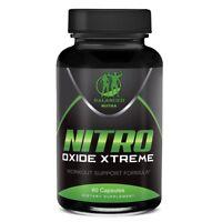 NITRIC OXIDE L-ARGININE XTREME Extreme Build Muscle 60 CAPS month supply Xtreme