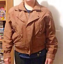 Men's Luchano Brown Coat SZ M Leather Vintage