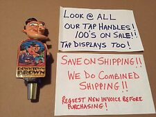 Lost Coast Downtown Brown Ale Beer Tap Handle Art Crazy Face