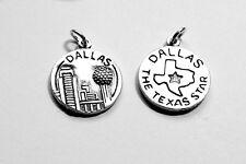 .925 Sterling Silver Dallas The Texas Star Travel Charm