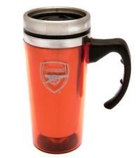 ARSENAL FC ALUMINIUM TRAVEL JOURNEY COFFEE TEA MUG NEW XMAS GIFT SECRET SANTA