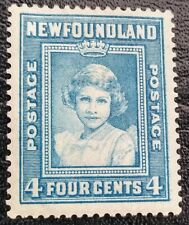 NEWFOUNDLAND 4 CENTS SG270 BLUE STAMP MH 1938
