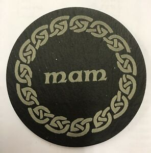 Welsh Slate Coaster - Mam