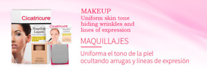 CICATRICURE: Liquid Make-up (Disguises and Hides Wrinkles)  / Maquillaje Liquido