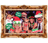 25 pc Christmas Photo Booth Props Funny Face Xmas Party Picture New Year Selfie