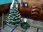 Vintage Atlantic Mold Ceramic Christmas Tree Mold 1976 Snow Flocked
