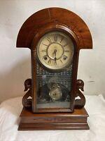 Waterbury Mahogany Mantle Clock Mechanical Winds/Not Running.C12 Pics.MAKE OFFER