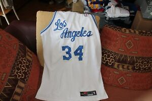 Shaquille O'Neal Nike Los Angeles NBA retro alternative road jersey