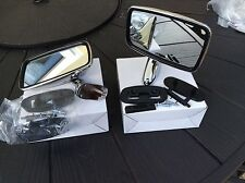 triumph Tex Style Door Mirrors , Stainless Steel Complete With Fix Kits