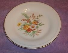 "Edwin M. Knowles China Saucer Plate Semi Vitreous Floral Design  6 1/2"" W"