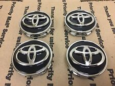 NEW TOYOTA SET 4 CENTER WHEEL WHEELS RIM RIMS HUB CAP CAPS BLACK CHROME 62MM N